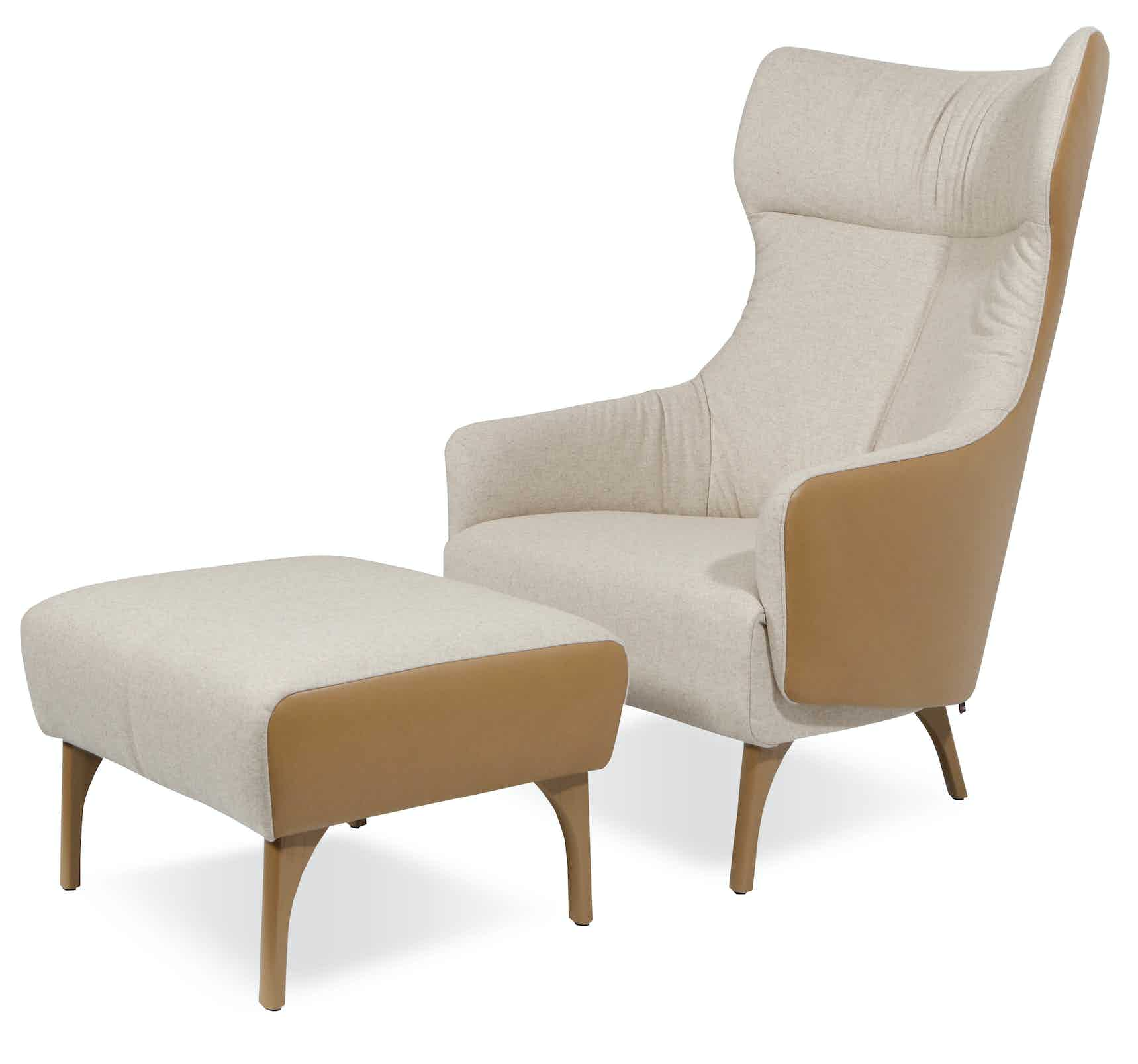 Jab Anstoetz Flow Armchair And Ottoman Haute Living