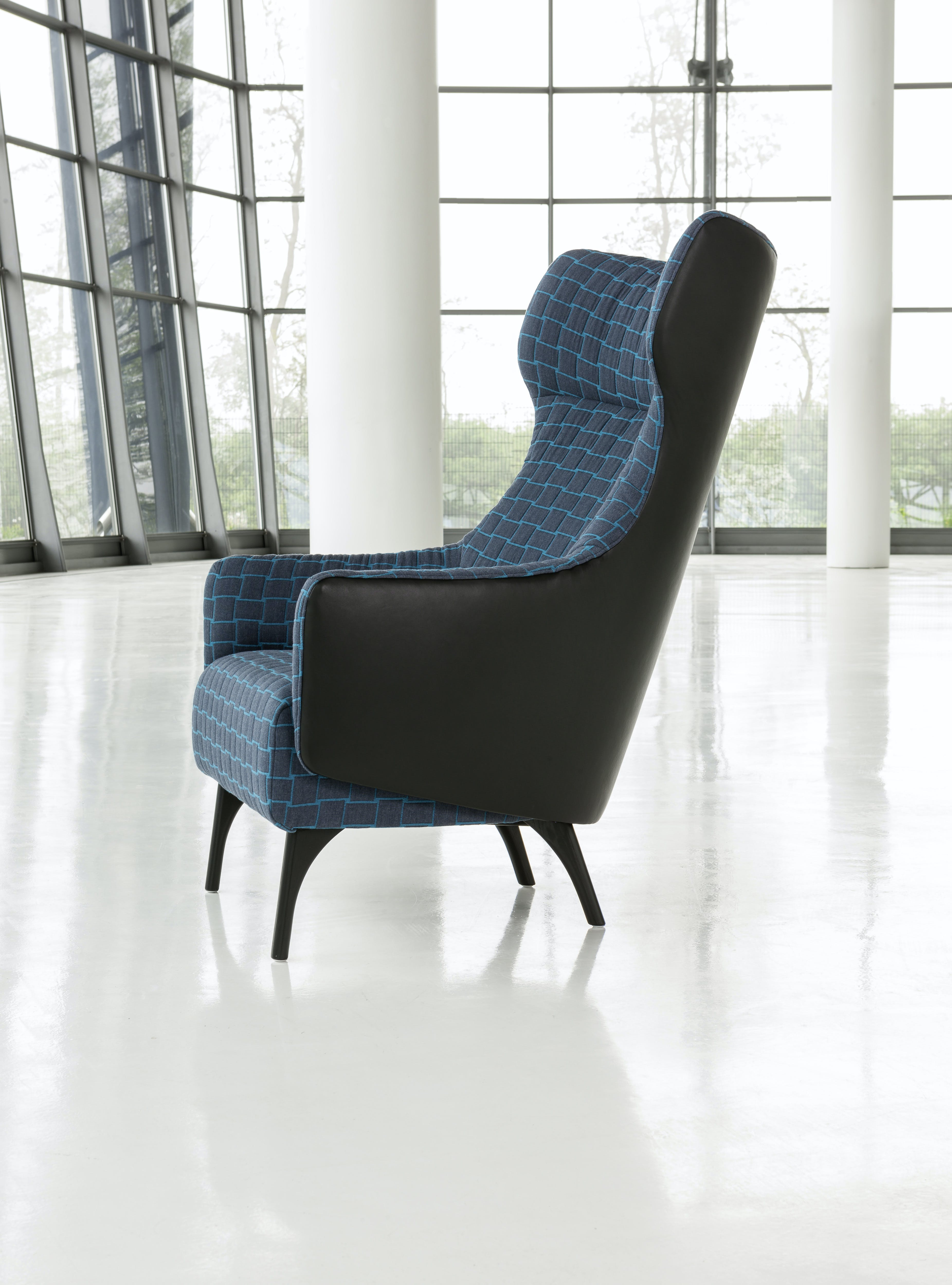 Jab Anstoetz Flow Armchair High Back Side Haute Living