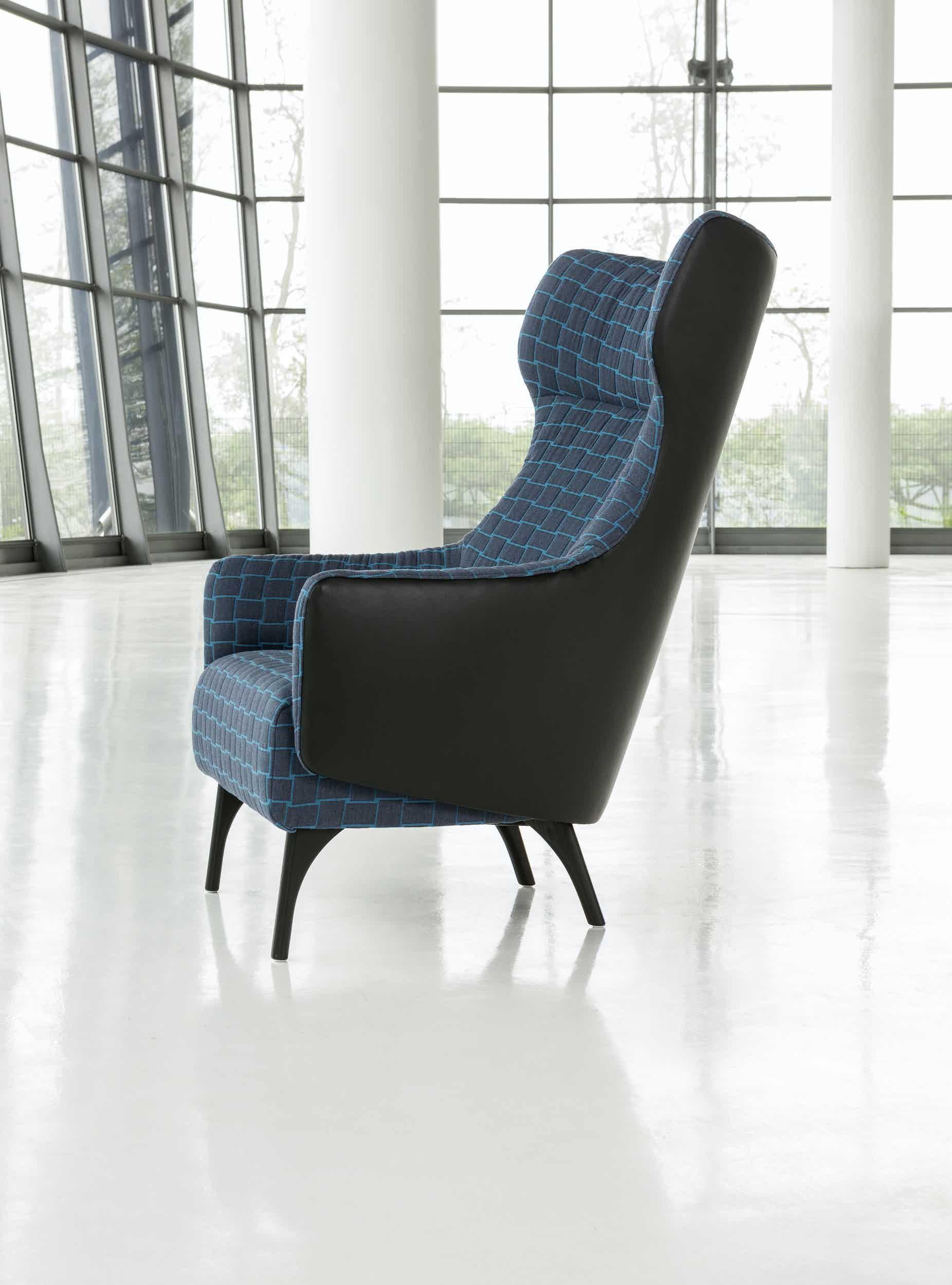 Jab Anstoetz Flow Armchair High Back Side Haute Living
