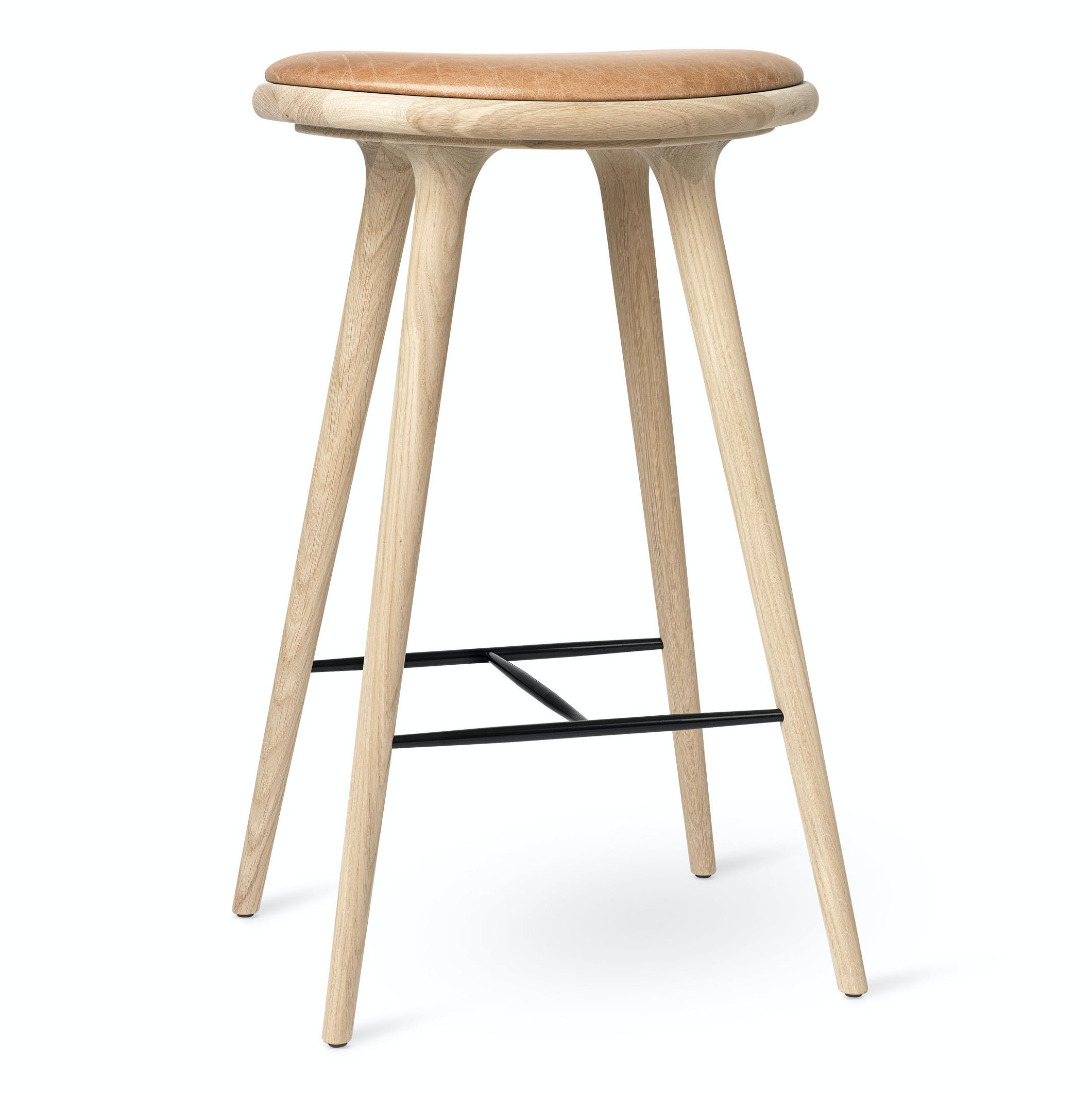 Mater Natural Soaped Oak Bar Stool Haute Living