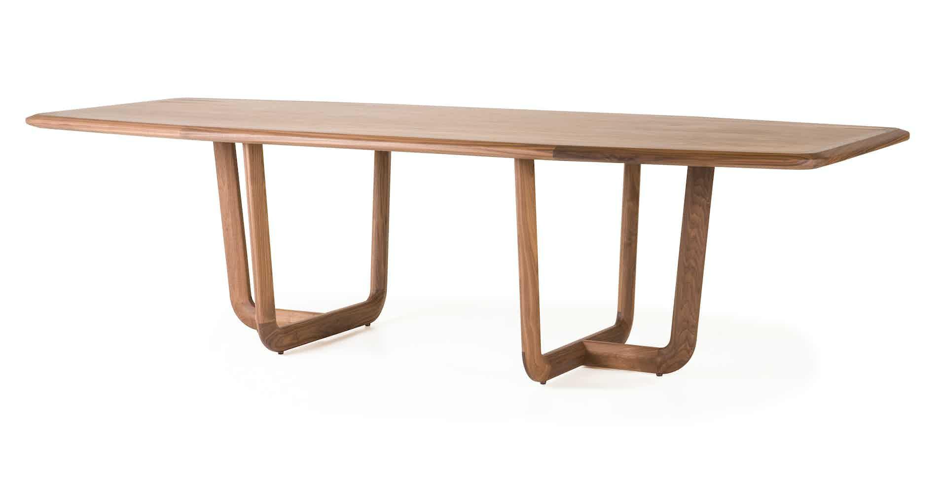 De La Espada Autoban Holy Dining Table Walnut Front Haute Living