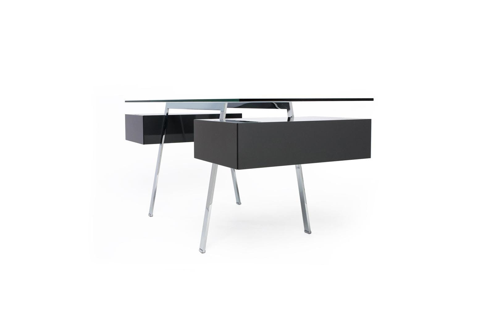 Bensen Black Drawer Homework Desk Side