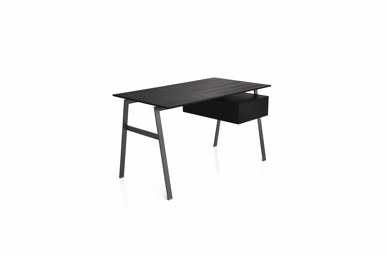 Bensen Black Homework Desk Front Angle