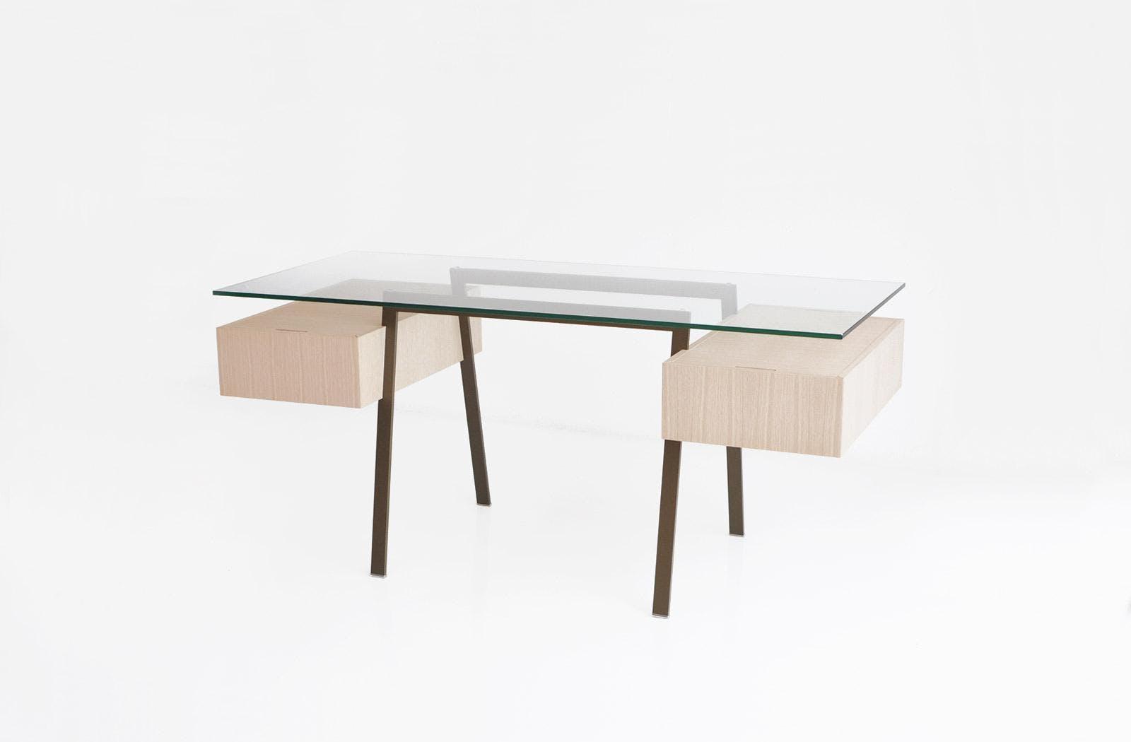 Bensen Bronzato Glass Homework Desk