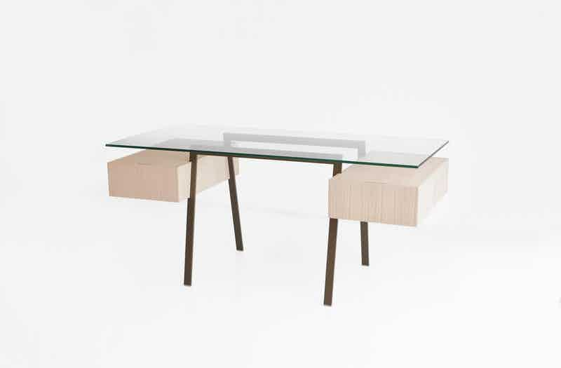 Bensen Bronzato Glass Homework Desk