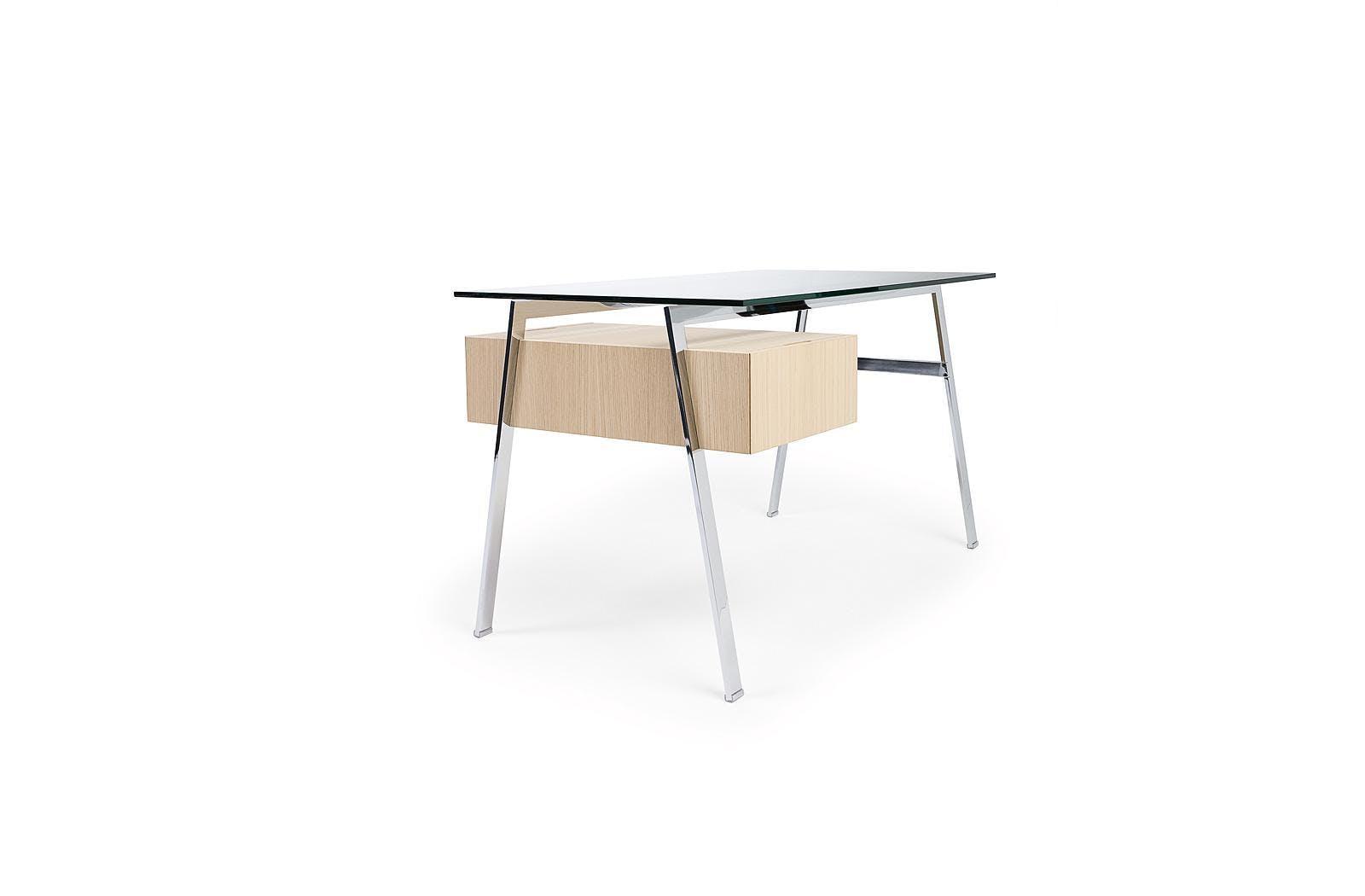 Bensen Homework Desk Glass Side Angle