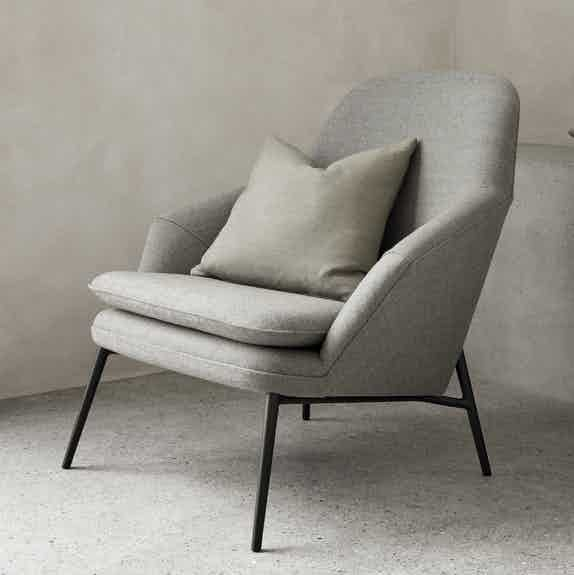 Wendelbo grey hug chair insitu haute living