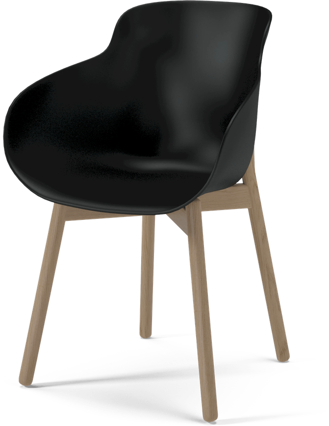 bolia black hug dining chair haute living