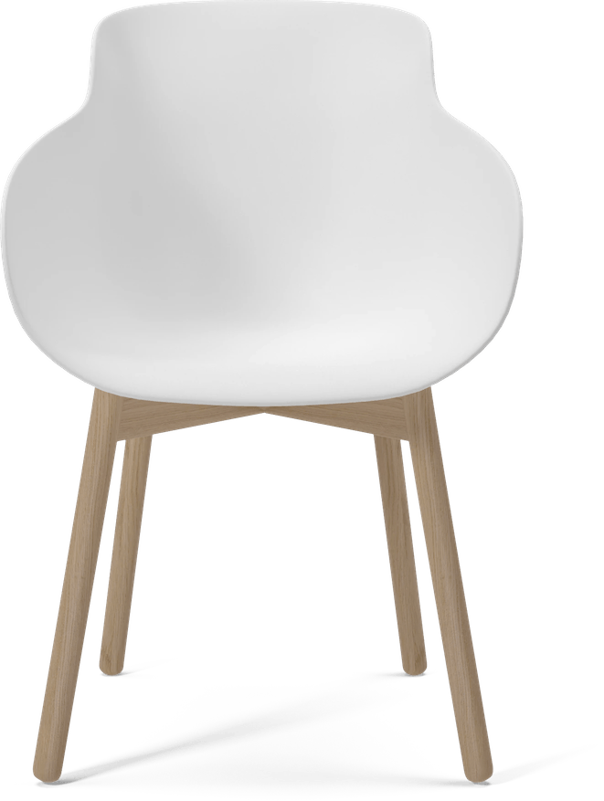 bolia white hug chair front haute living