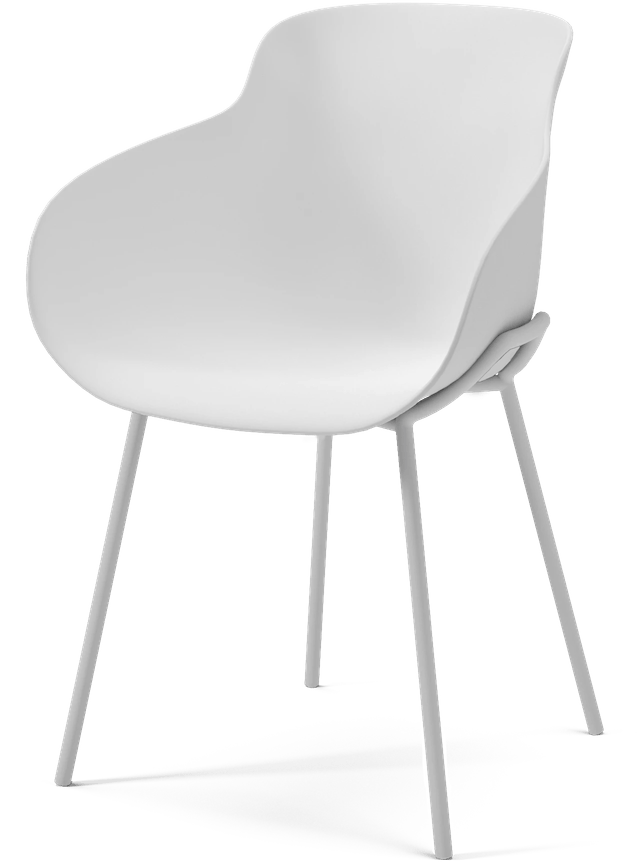 bolia all white hug dining chair haute living