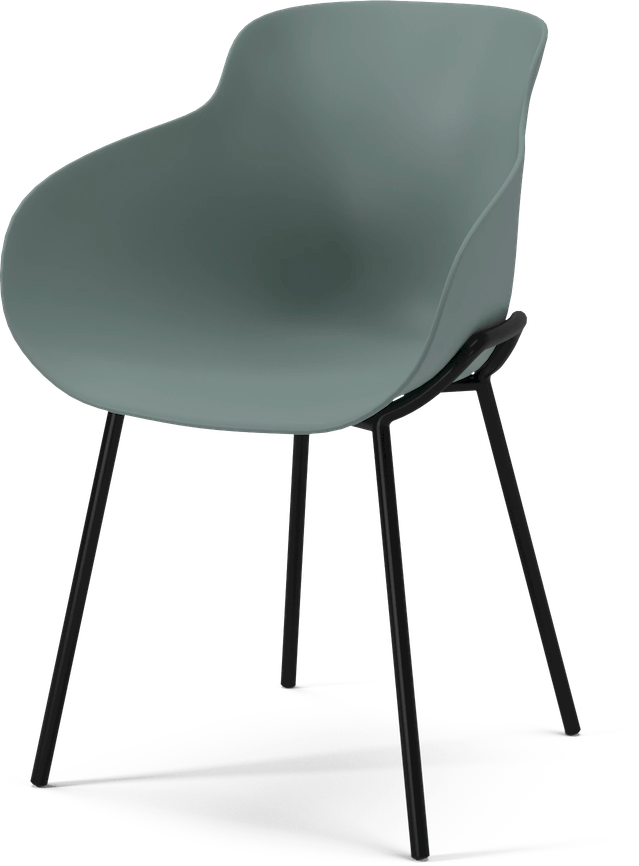 bolia black metal legs hug chair haute living