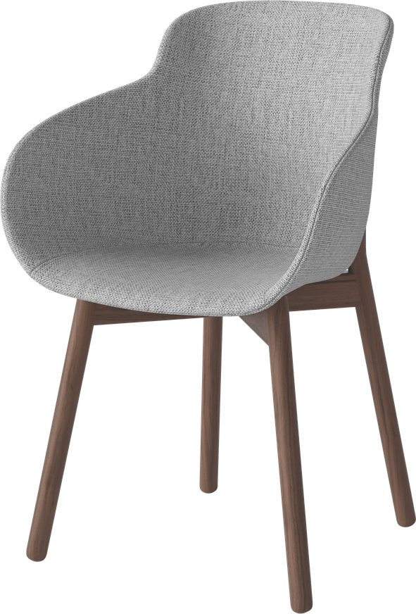 bolia grey upholstered hug dining chair haute living