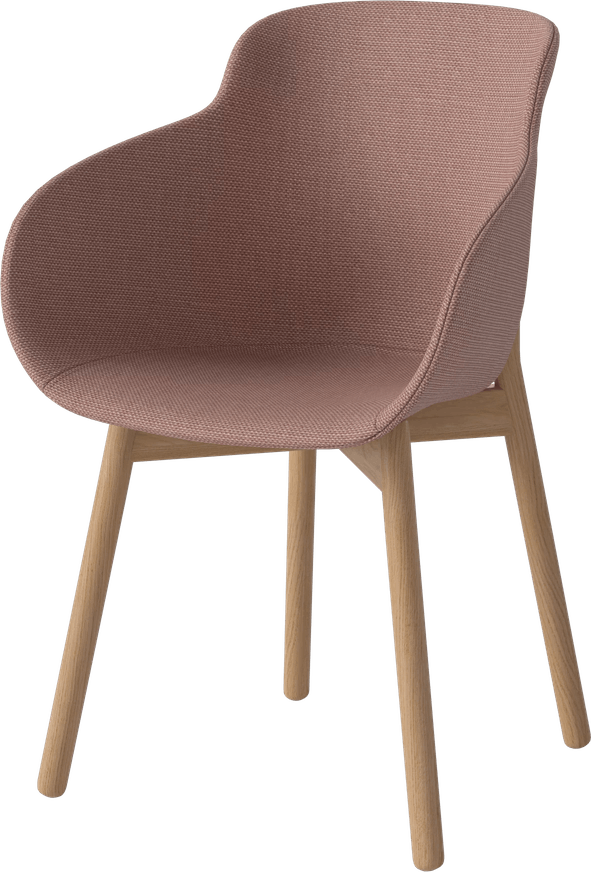 bolia pink hug dining chair haute living
