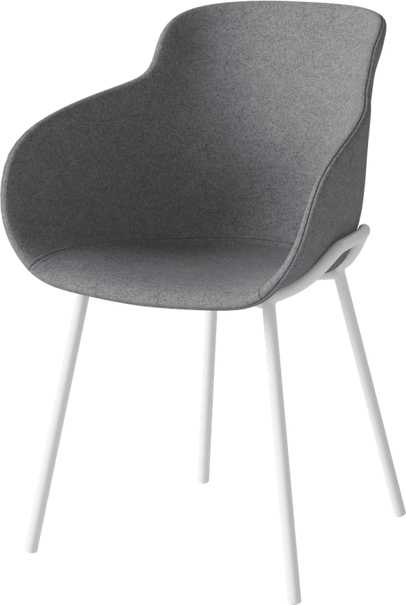 bolia grey upholstered hug chair wire legs haute living