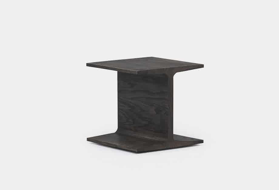 De La Espada Matthew Hilton I Beam Side Table Black Ash Front Haute Living