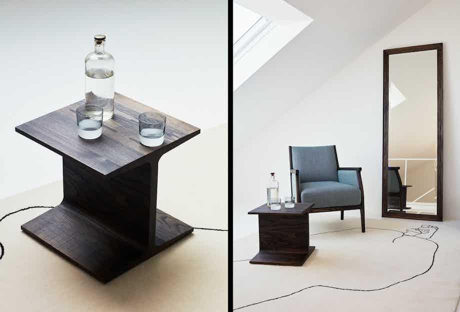 De La Espada Matthew Hilton I Beam Side Table Black Ash Insitu Haute Living