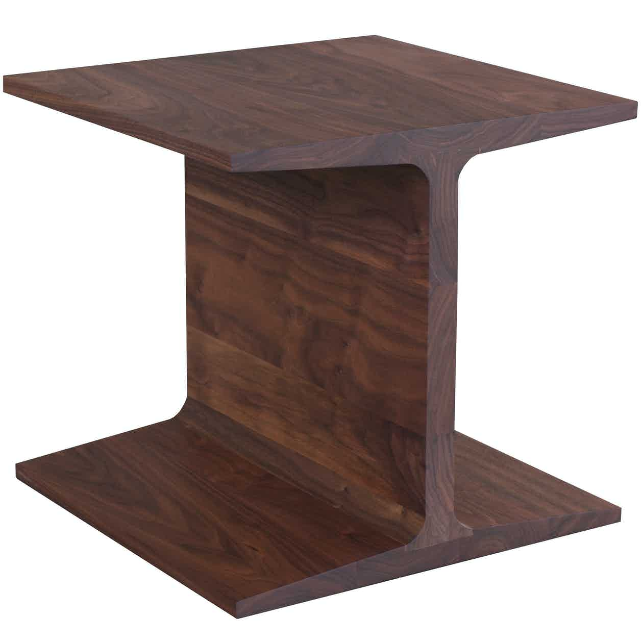 De la espada matthew hilton i beam side table chestnut haute living
