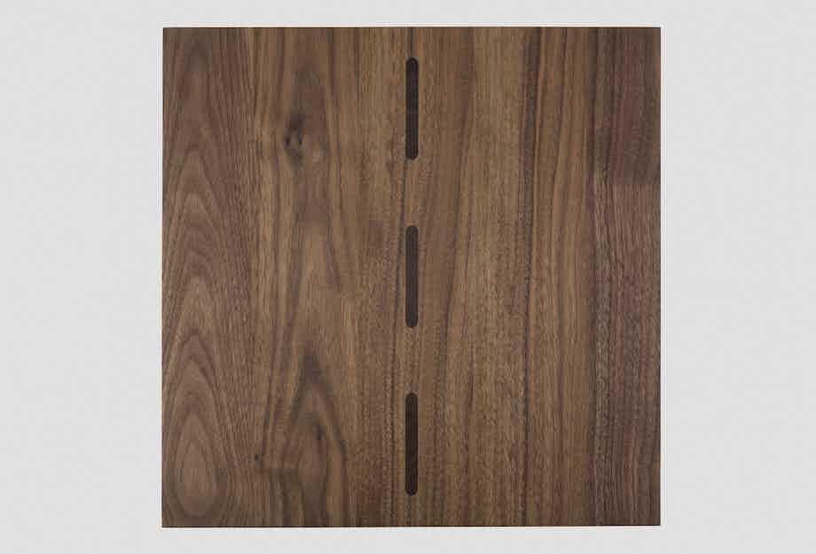 De La Espada Matthew Hilton I Beam Side Table Walnut Top Haute Living