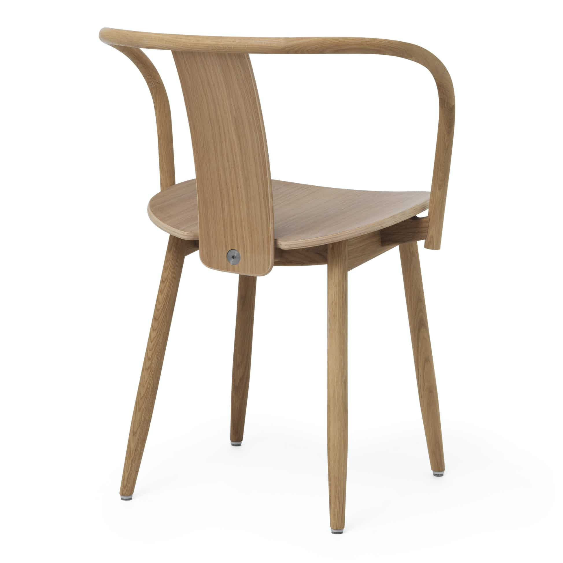 Massproductions Icha Chair Brown Back Angle Haute Living