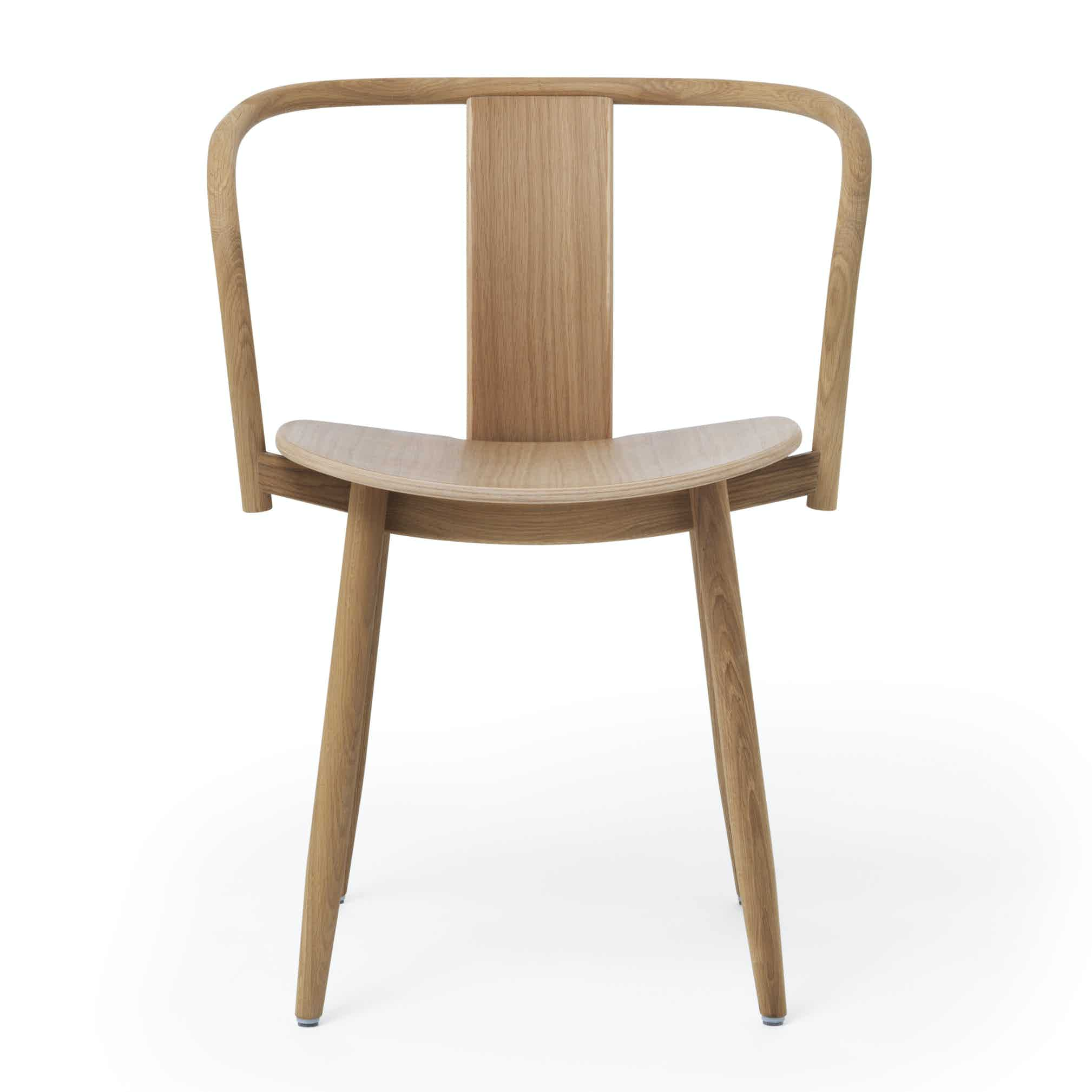 Massproductions Icha Chair Brown Front Haute Living