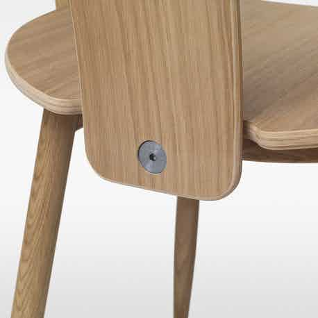 Massproductions Icha Chair Brown Hardware Detail Haute Living