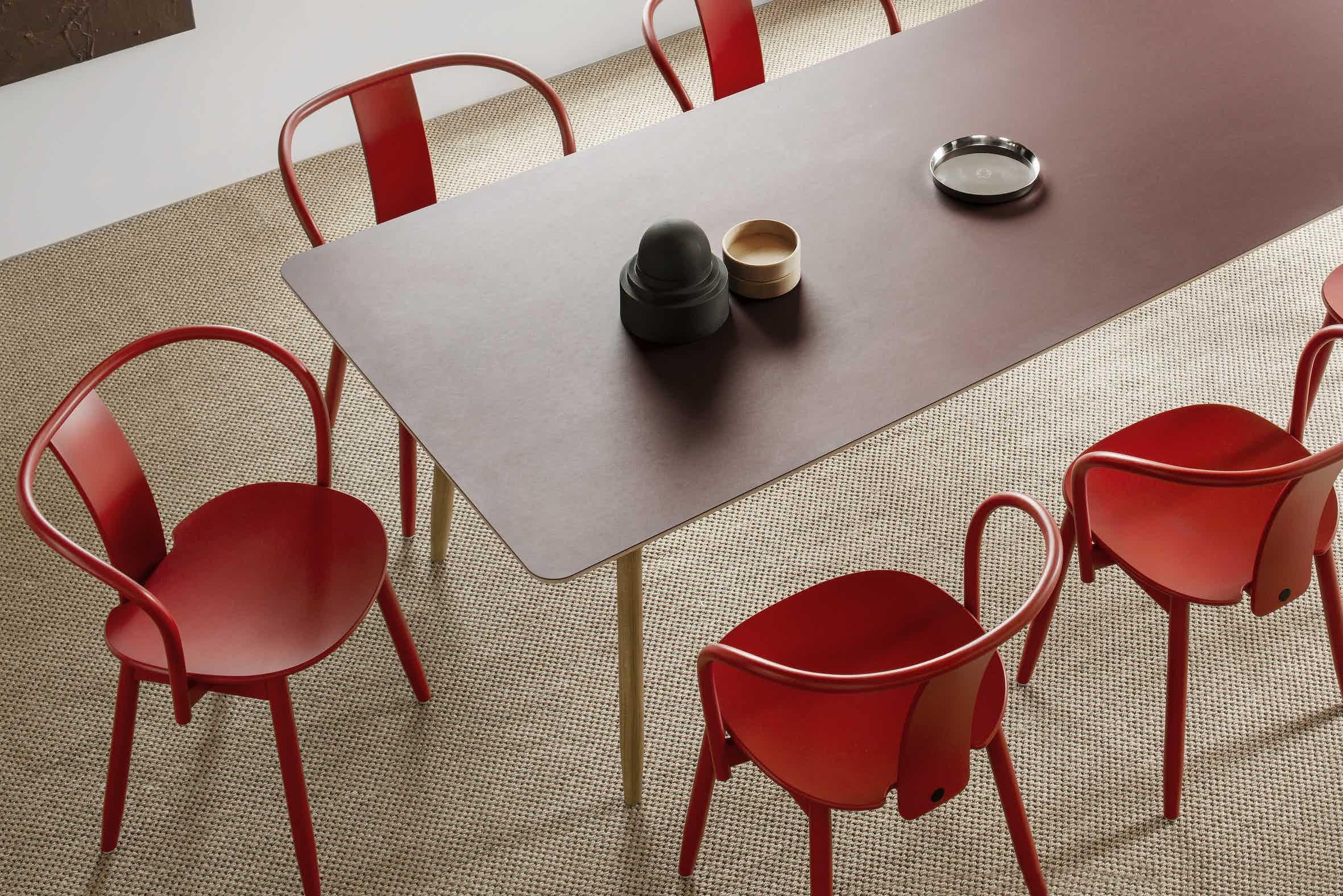 Massproductions Icha Chair Insitu Red Haute Living