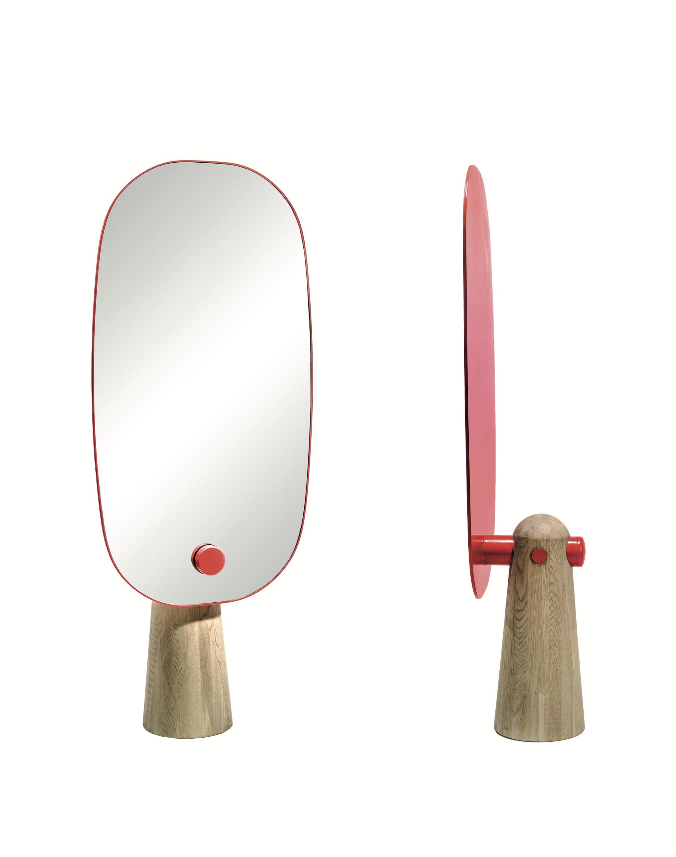 La Chance Iconic Mirror Red Oak Haute Living