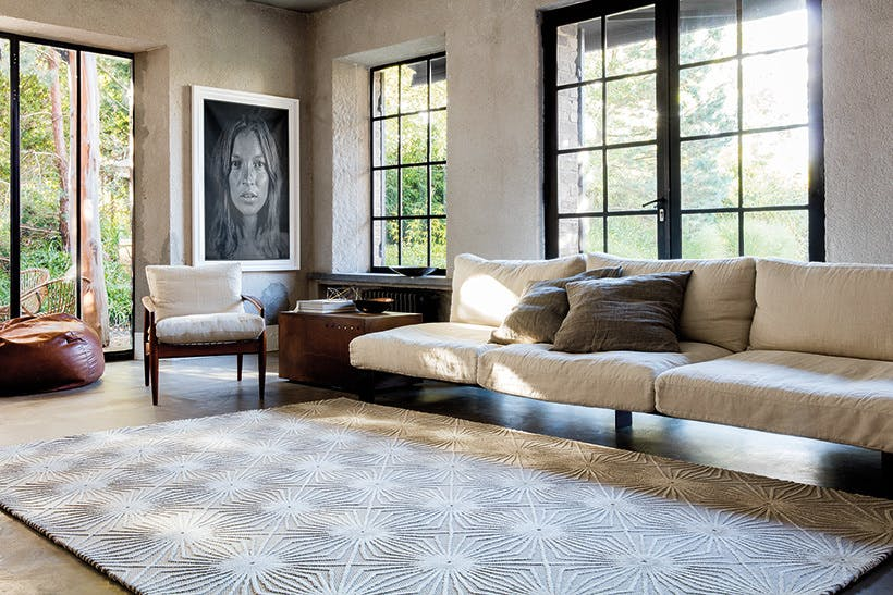 Limited Edition Rugs Illusion Rug Cement Insitu Haute Living