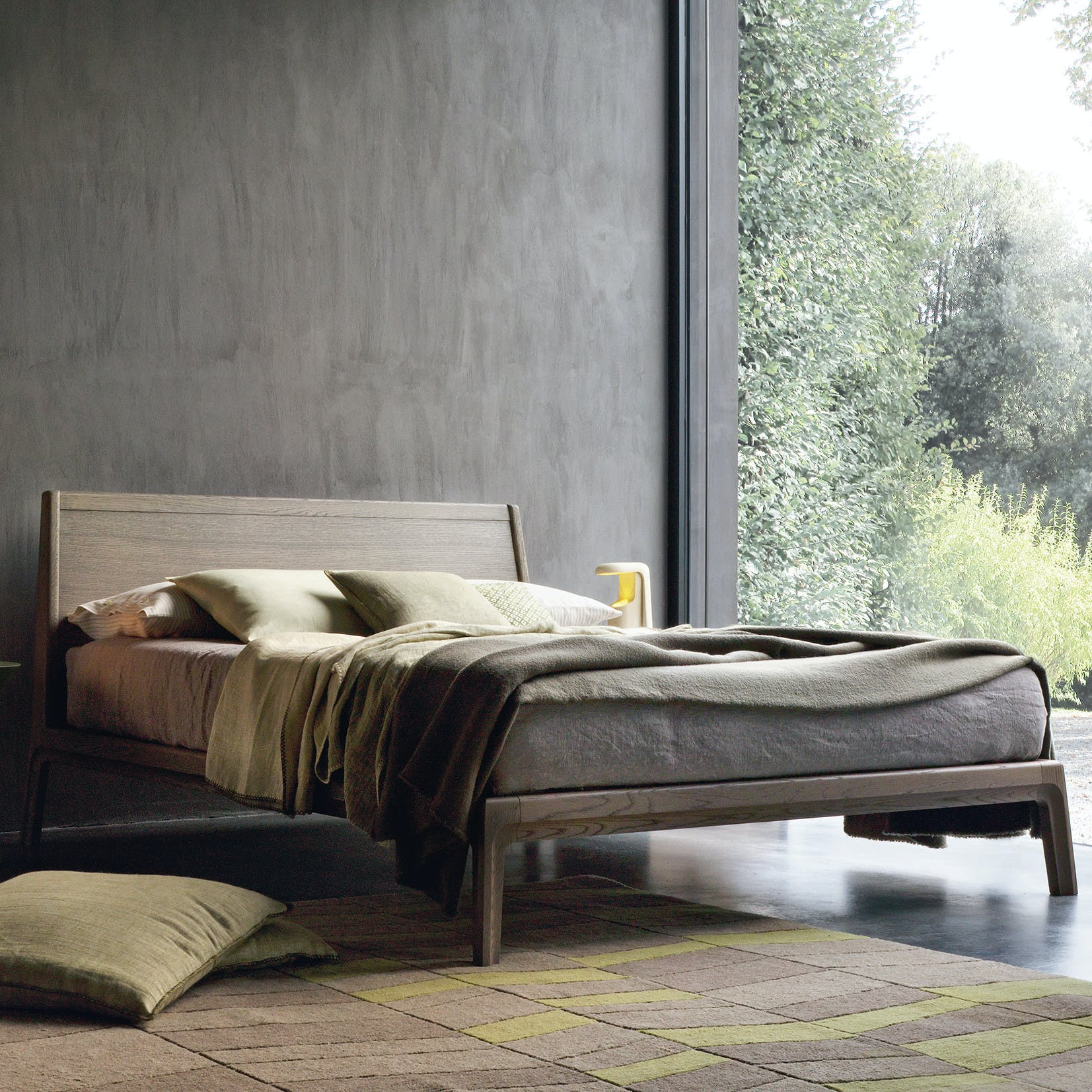 Giellesse Impronta Bed Full Angle Wood Haute Living