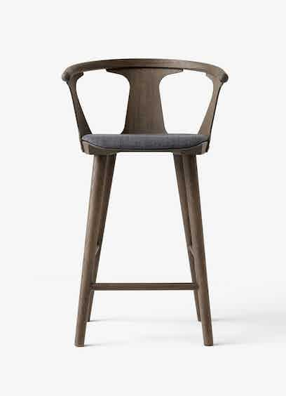 Tradition In Between Grey Upholstered Stool Haute Living