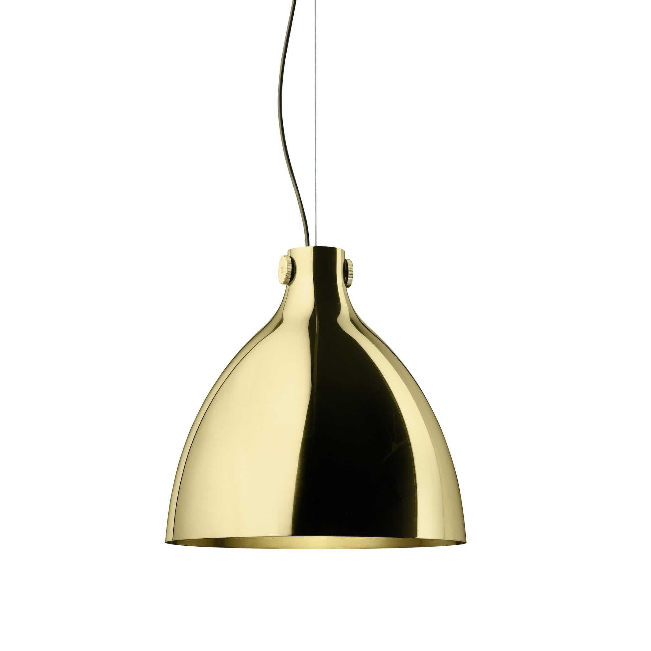 Ghidini 1961 indi pendant lamp brass round haute living