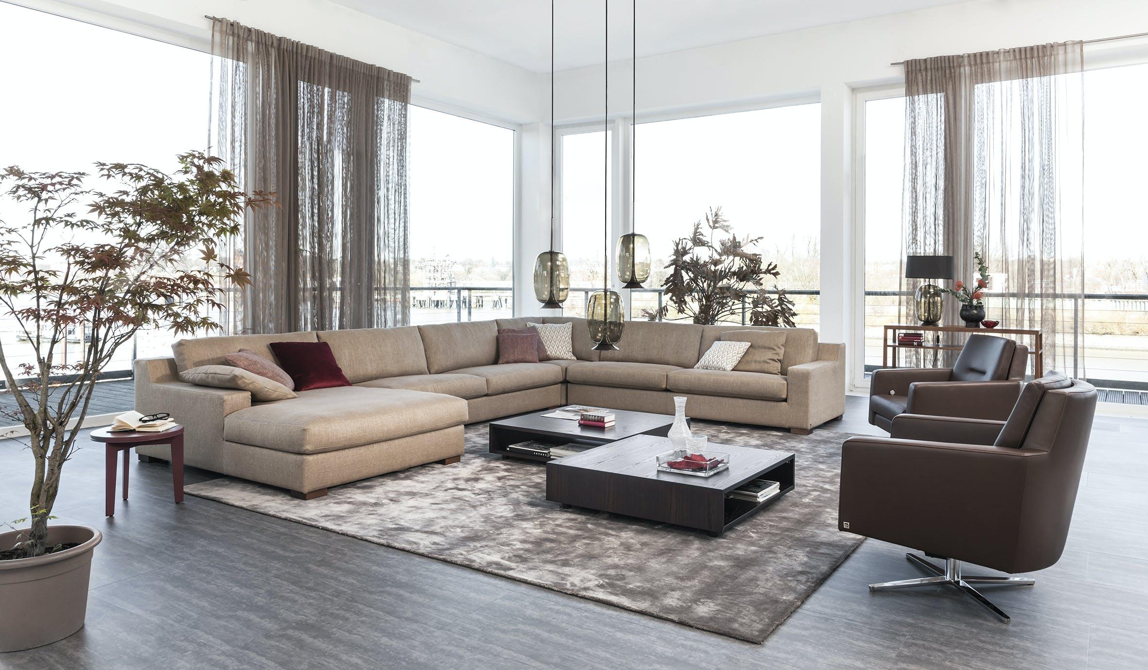 Jab Anstoetz Taupe Inspiration Modular Sofa Insitu Haute Living
