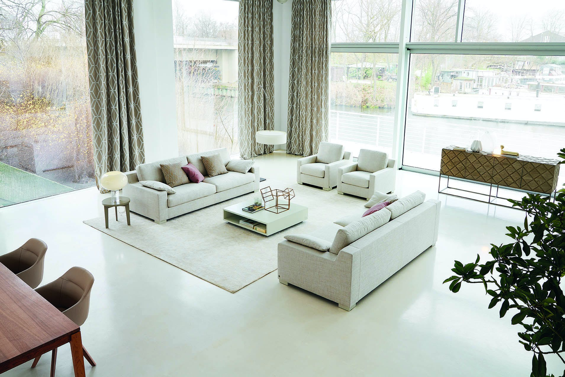 Jab Anstoetz White Inspiration Sofa Insitu Haute Living