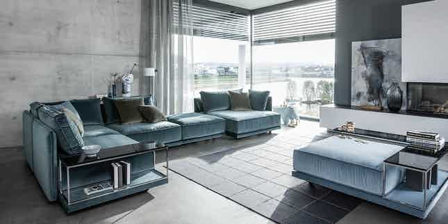 Jab-anstoetz-blue-velvet-cube-lounge-modular-sofa-insitu-haute-living