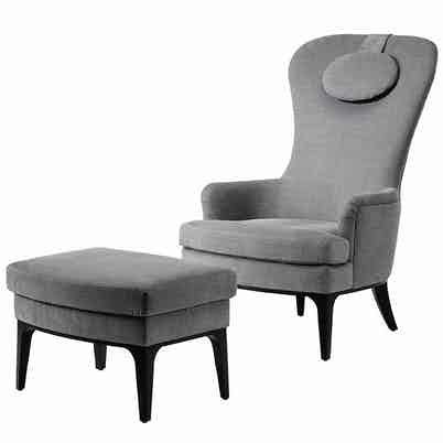 Jab Anstoetz Dandy Armchair With Ottoman Haute Living