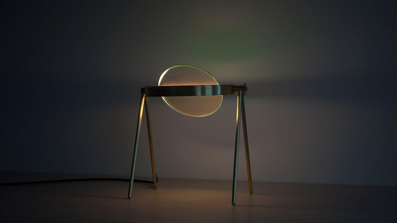 Trueing Janus Table Lamp Lit