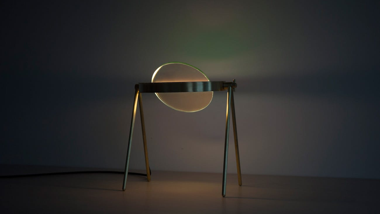 Trueing Janus Table Lamp Lit