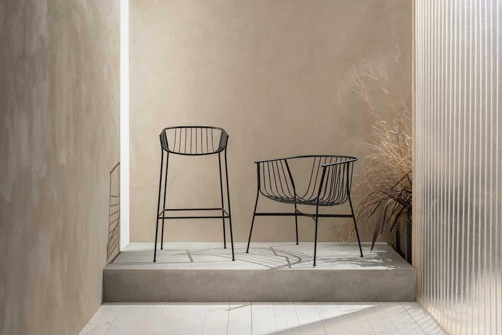 Sp01 design jeanette stool black haute living
