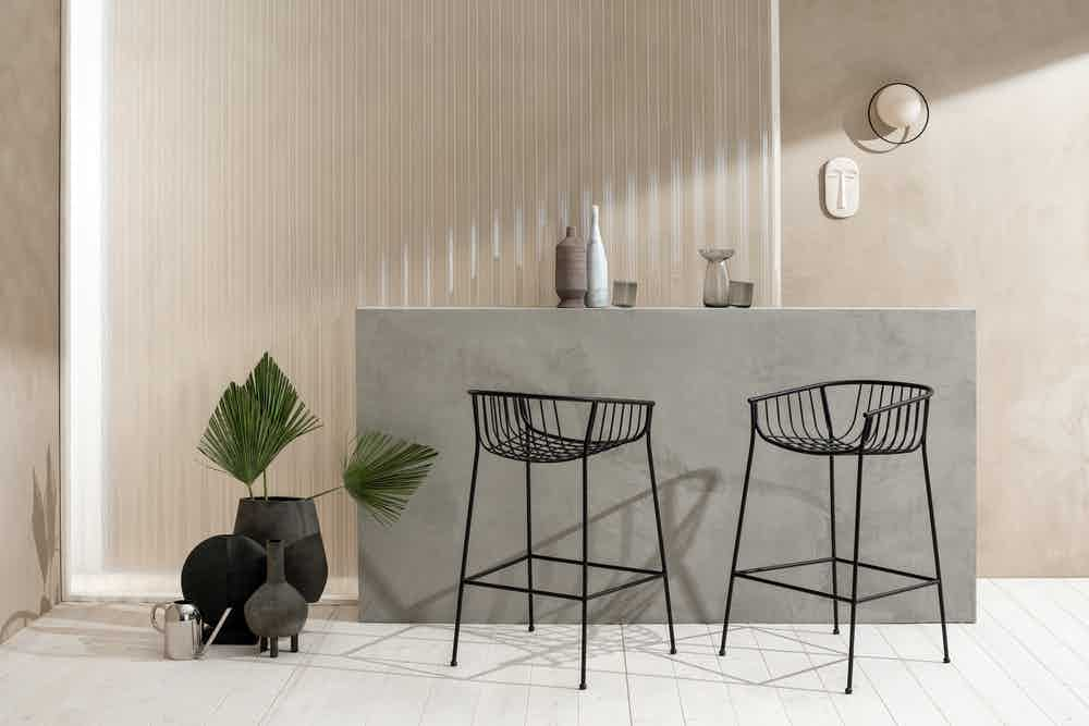 Sp01 design jeanette stool insitu black haute living