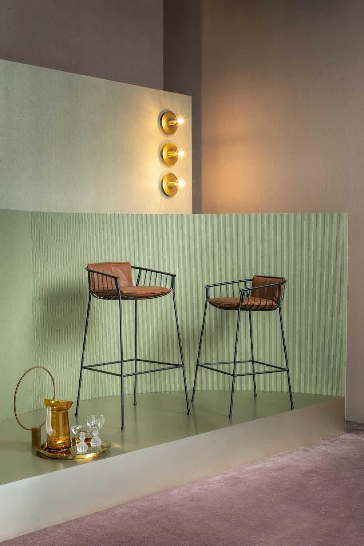 Sp01 design jeanette stool pad insitu haute living