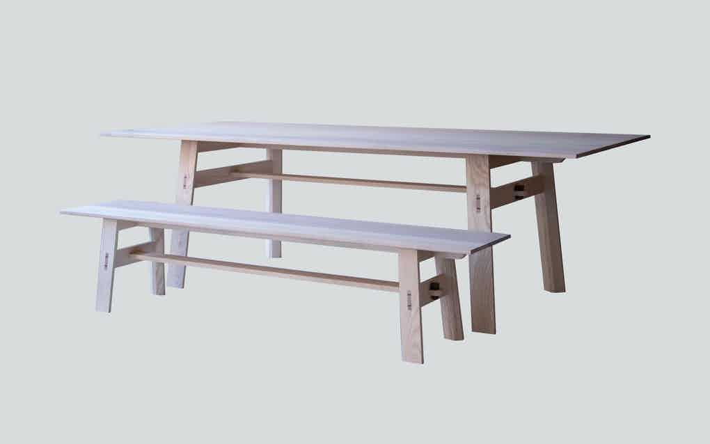 Scp furniture jethro table with bench haute living