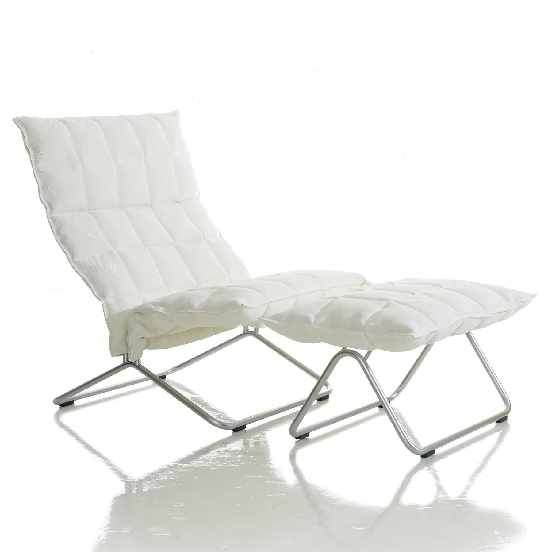 46001 Wide K Chair And 46011 Wide K Ottoman With Tubular Feet