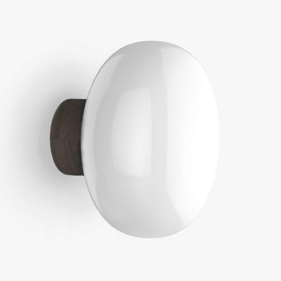 New works karl johan wall lamp smoked white haute living