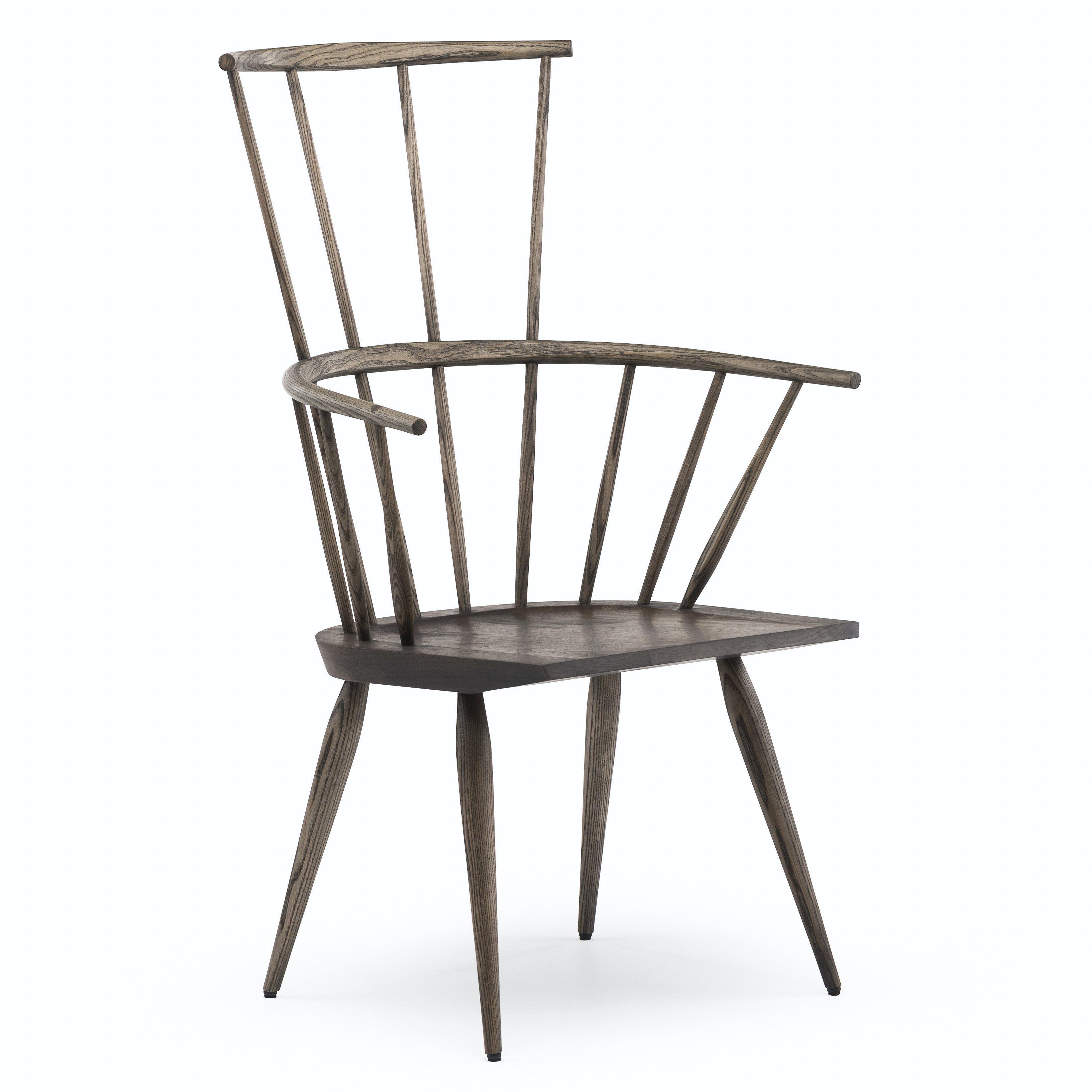 359 Kimble Windsor Chair By Matthew Hilton In Black Oiled Walnut And Ash Whitebkgrnd