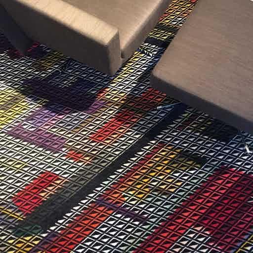 Moooi carpets kubrick square insitu haute living