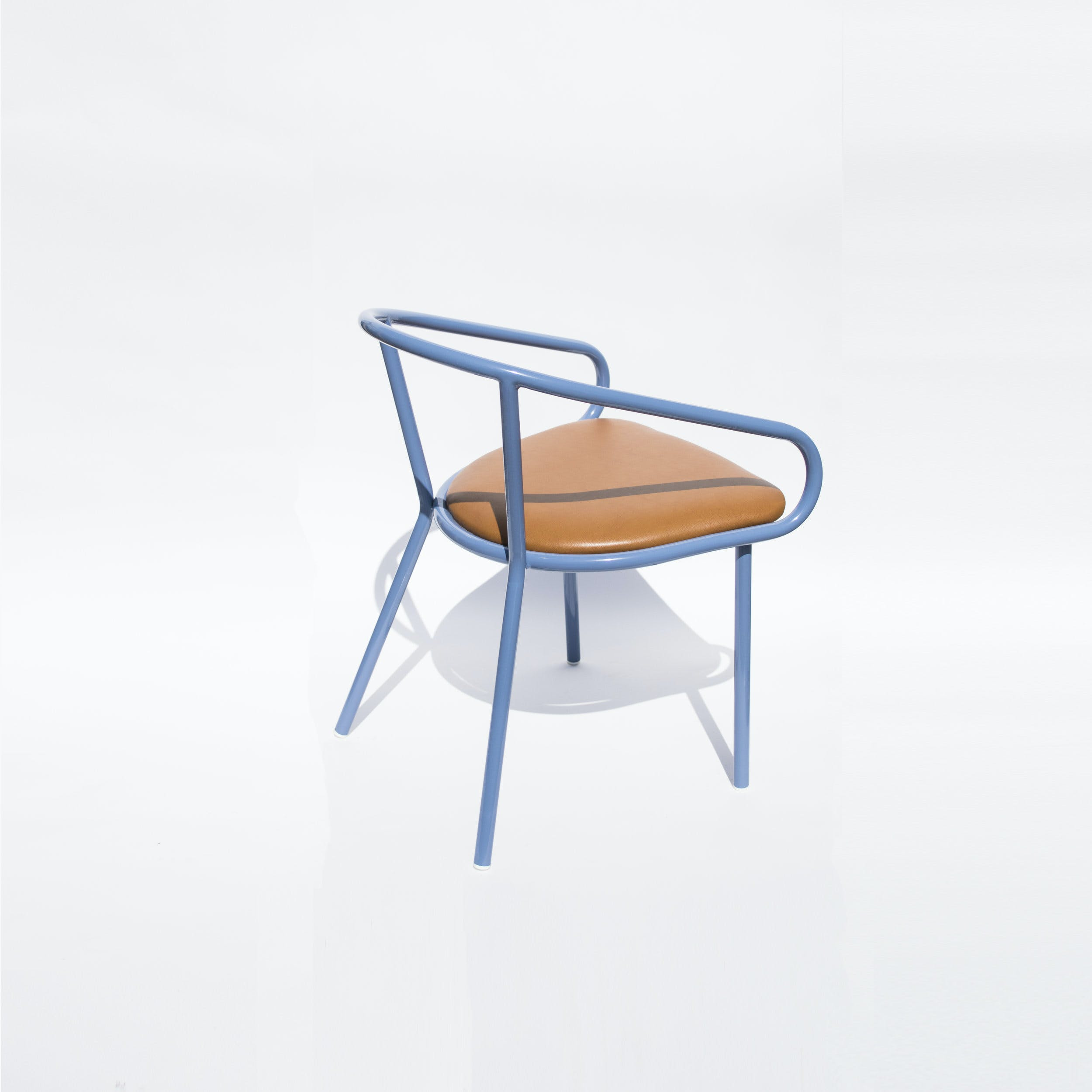 Division 12 Wedge Arm Chair Blue Haute Living