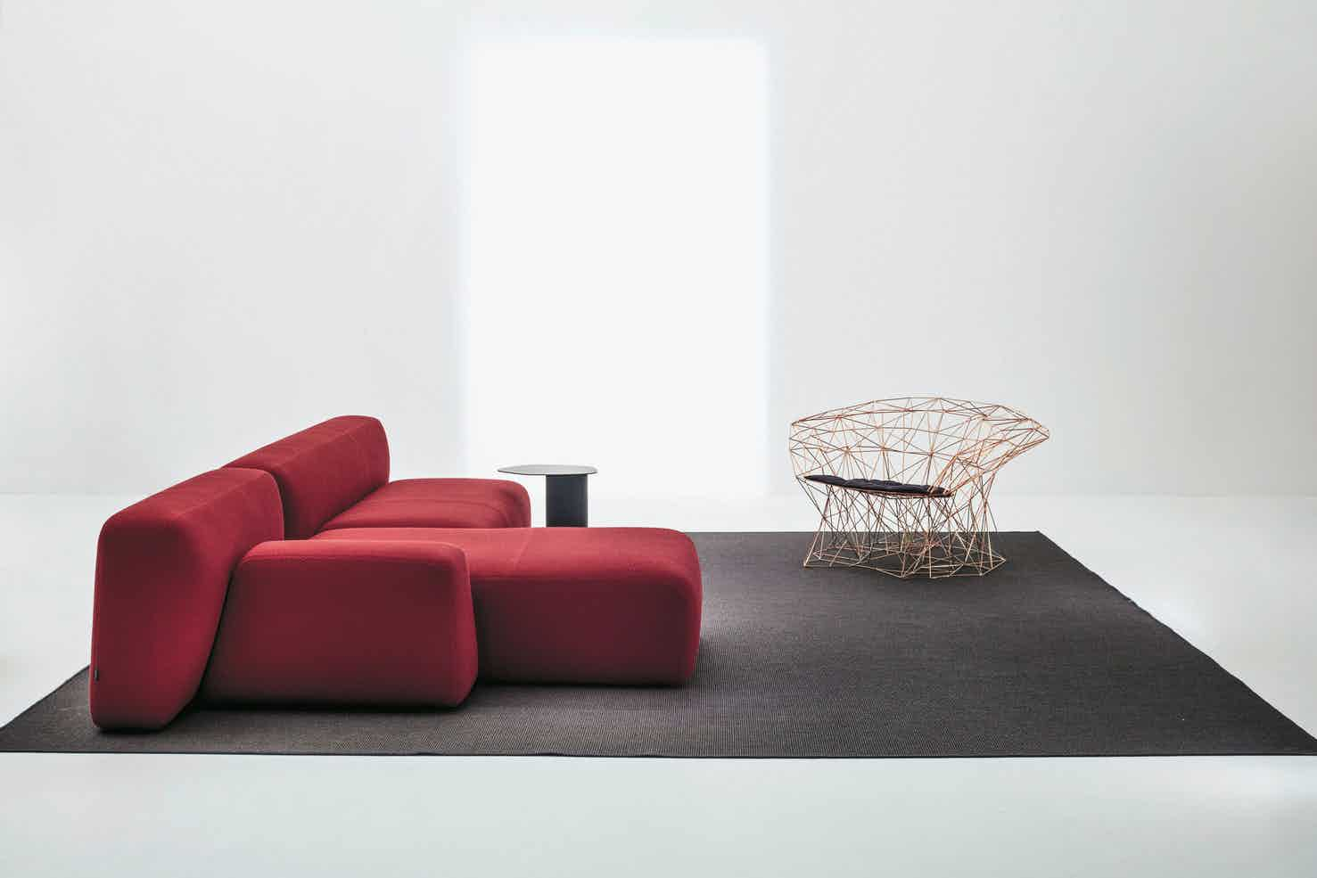 La cividina suiseki sofa red side insitu haute living