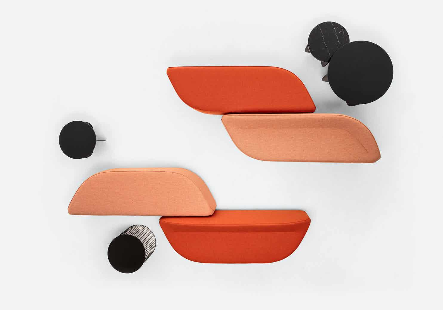 Lacividina waves bench oranges 2 haute living
