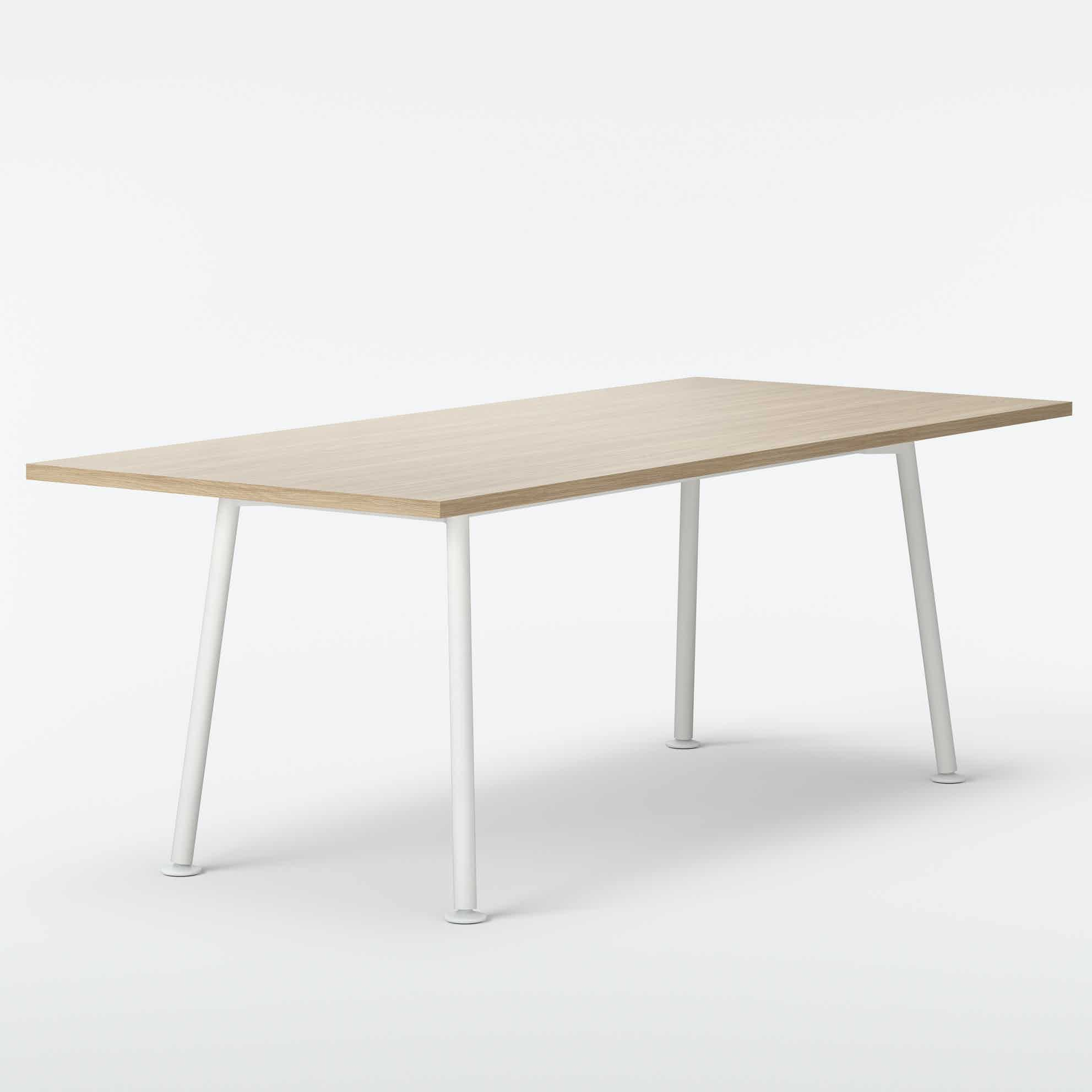 Massproductions landa table oak rectangle haute living