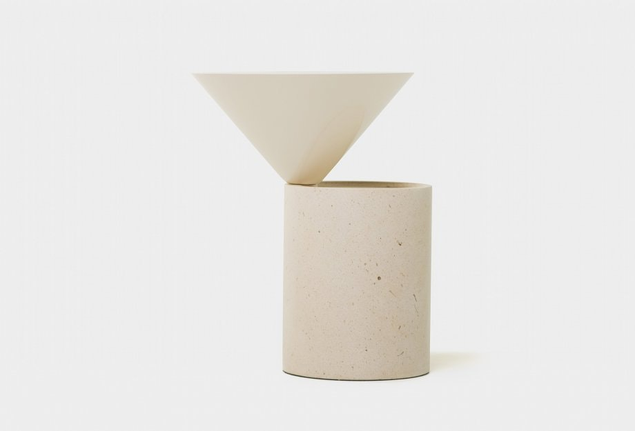 Laurel Side Table In Limestone Skweb B 920X625